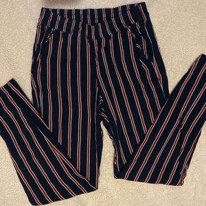 Blue stripped trousers
